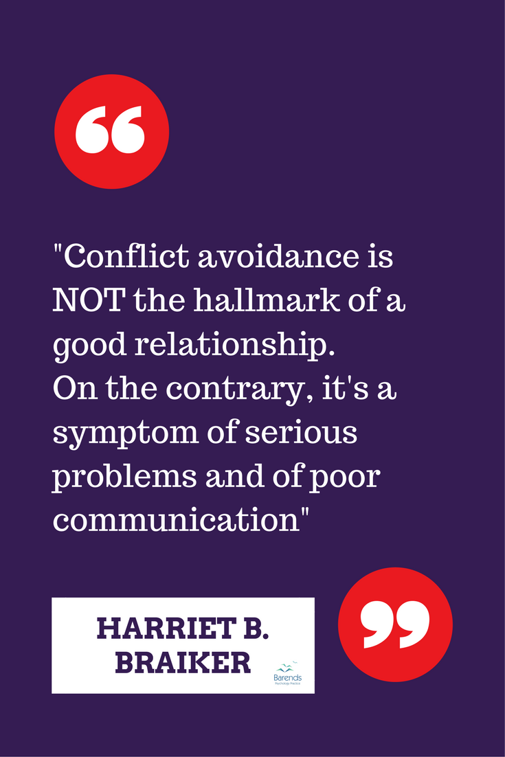 Conflict avoidance in relationships
