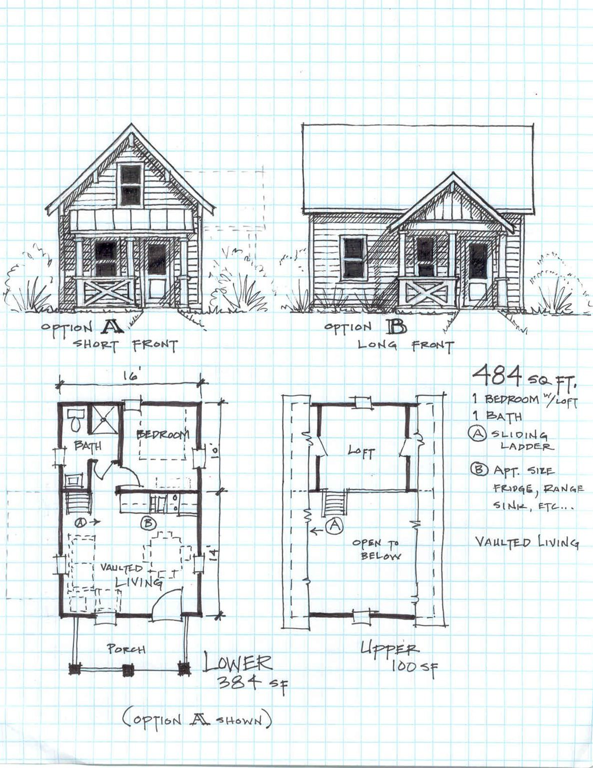Garden Cottage F One Level With Loft Small House Plans Small House Kits Small Houses Small House Small Cabin Plans Small House Floor Plans Loft Floor Plans