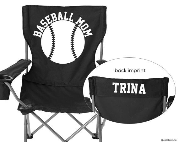 Personalized Folding Chair Massage Ebay Baseball Mom By Quotablelife 34 00