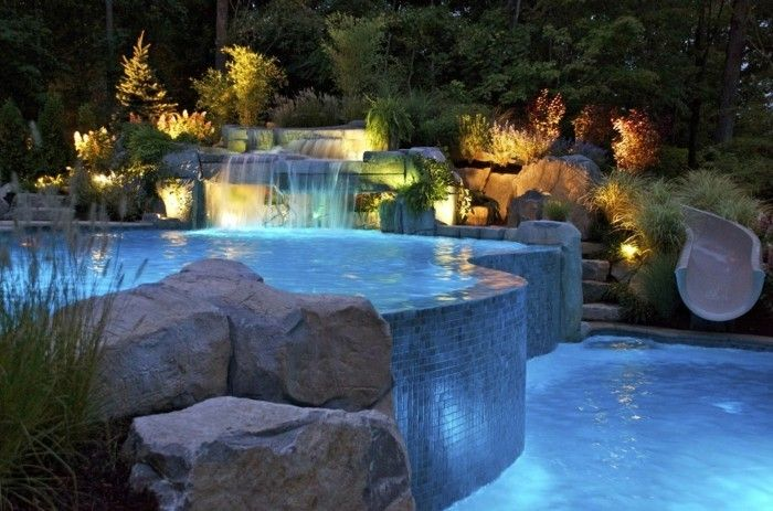 Luxus Pool Kleiner Luxus Pool Fur Garten Pool Waterfall Luxury Swimming Pools Pool Landscaping