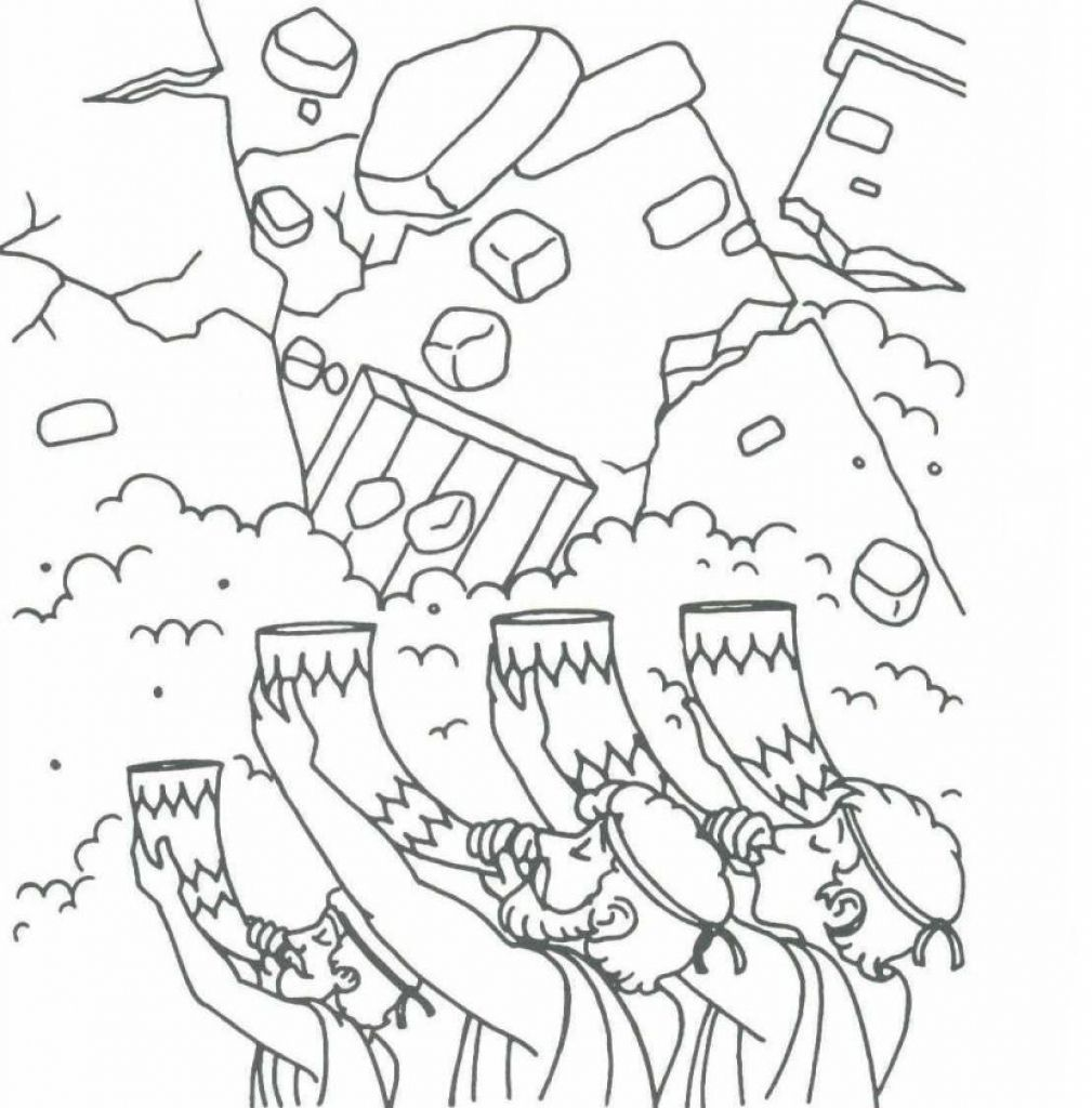 frolic first preschool bible coloring pages jericho