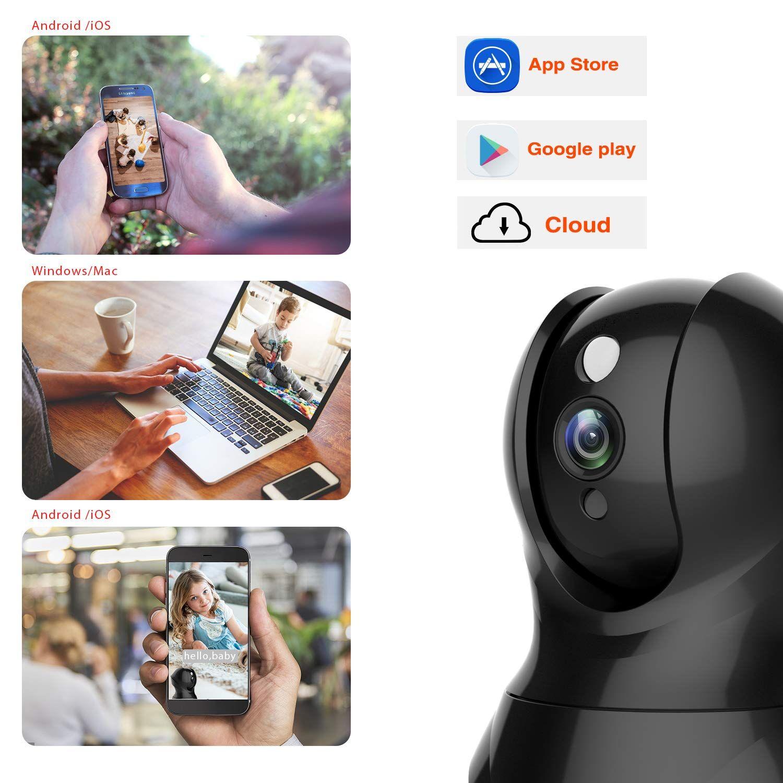 Security Camera 1080P WiFi Pet Camera KAMTRON Wireless Indoor Pan//Tilt//Zoom...