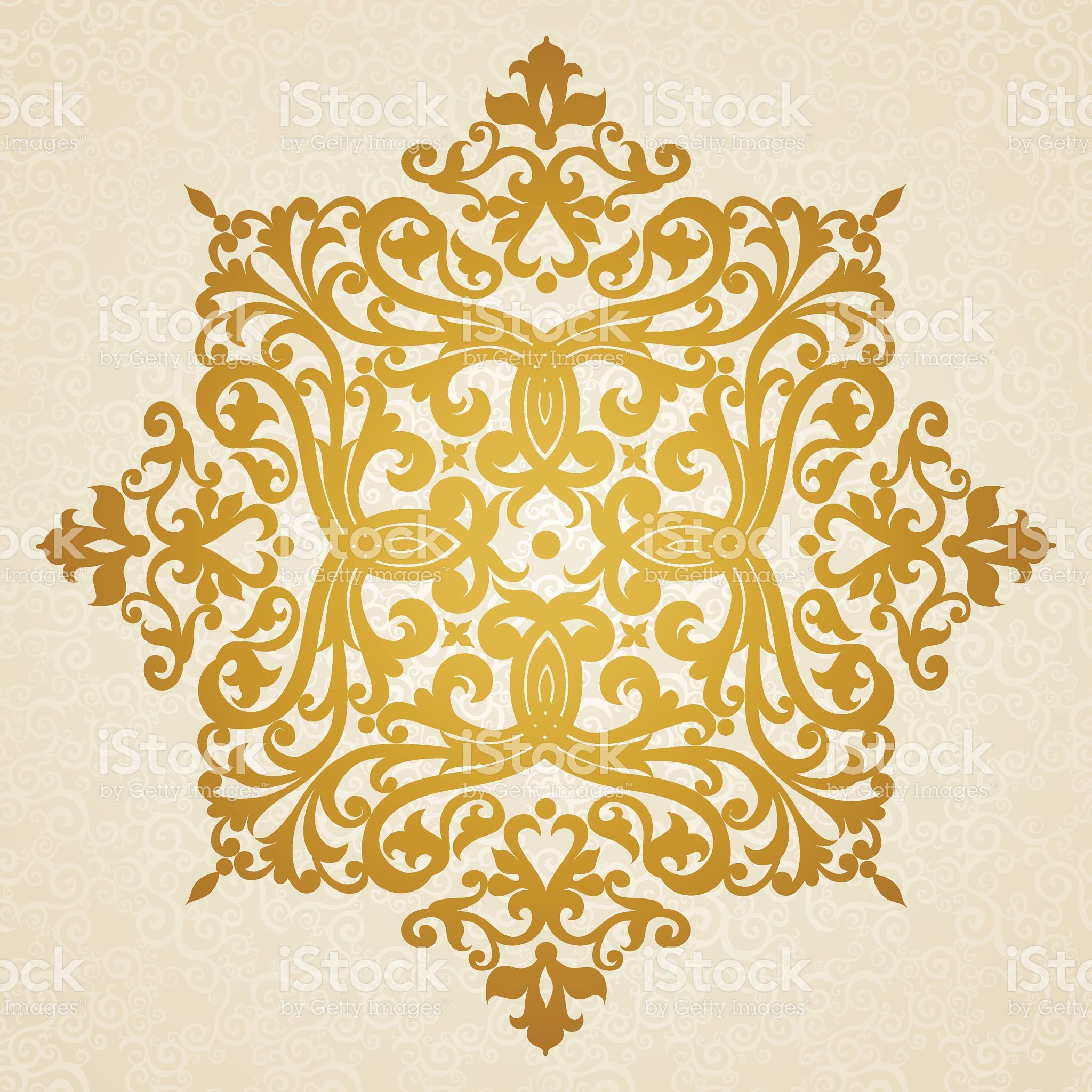Vector baroque ornament in Victorian style. royalty-free stock vector art