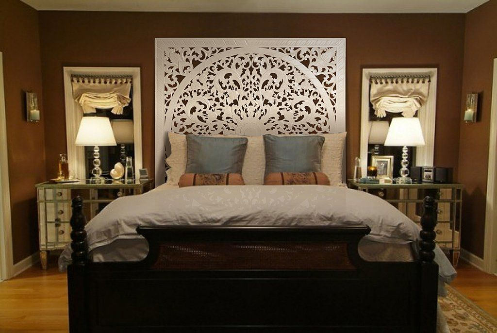 "Queen Size Bed Headboard ""Lily"" White Headboards for"