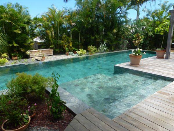 Piscine Béton Rectangulaire Avec Revêtement Carrelage Réalisée Par - Modele de piscine en beton