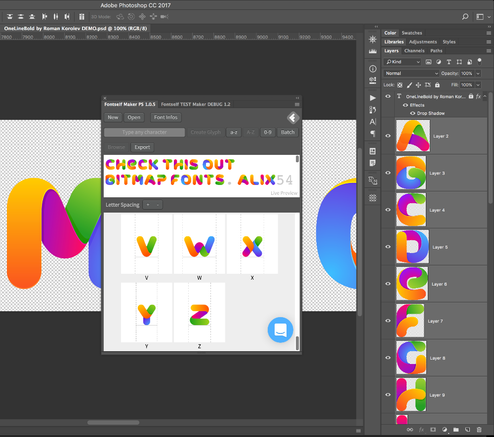 adobe Create Font using PNG files Graphic