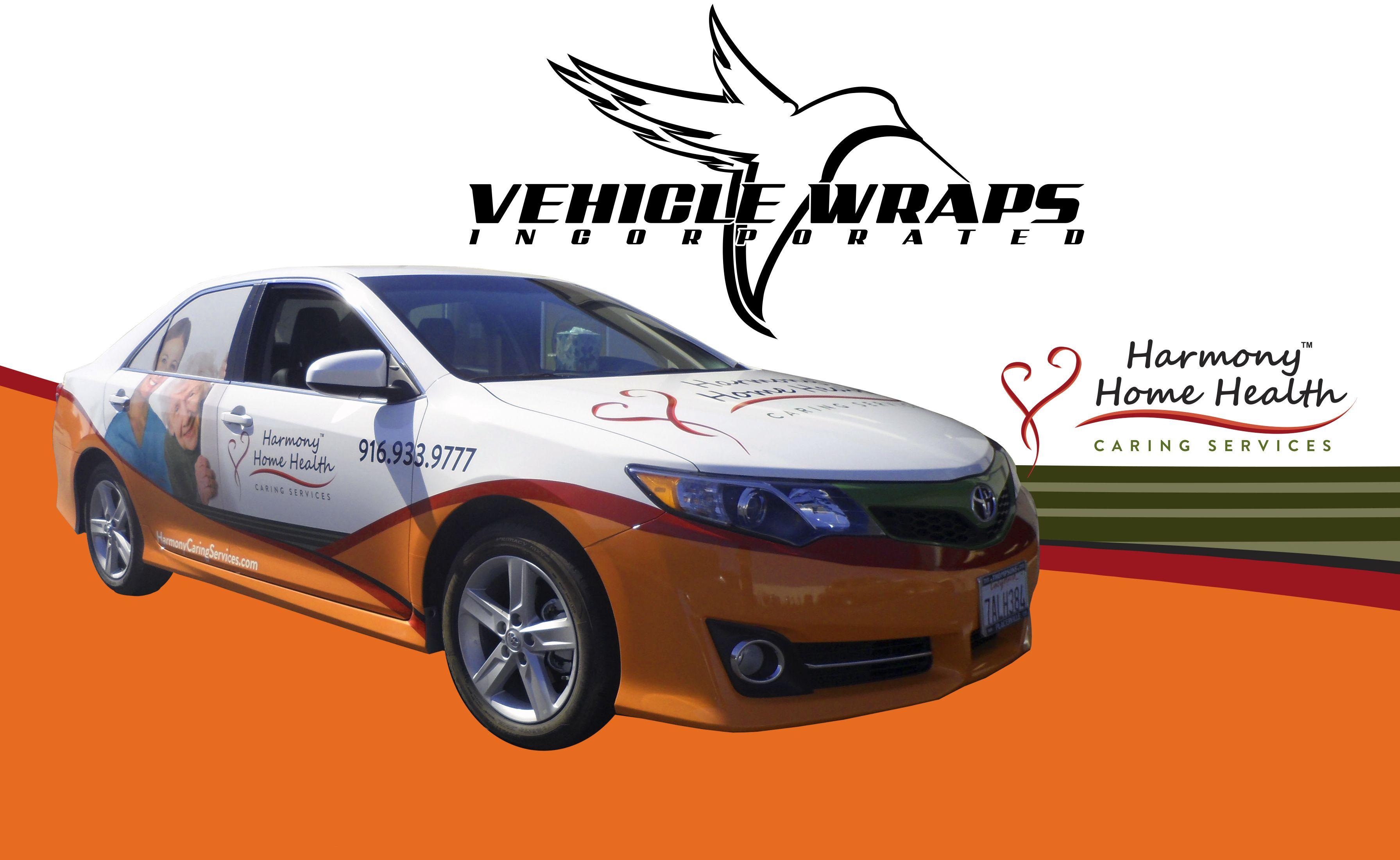 Partial Vehicle Wrap Car Harmony Home Health 3M