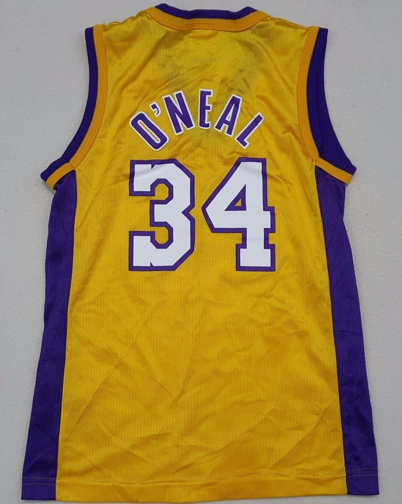 f09231ccb6b1 Los Angeles Lakers Shaquille O Neal  34 SHAQ Champion NBA Jersey - Youth S   lakers  nba  oneal  LosAngelesLakers