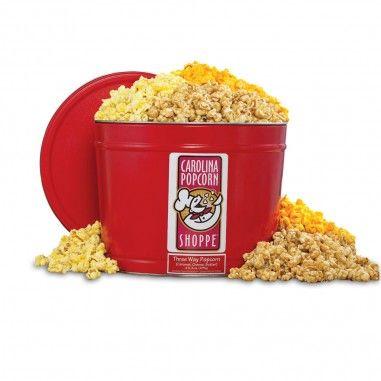 Carolina Popcorn Gift Tin- Southern Season www.southernseason.com