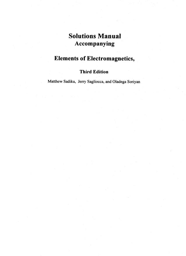 تحميل كتاب elements of electromagnetics