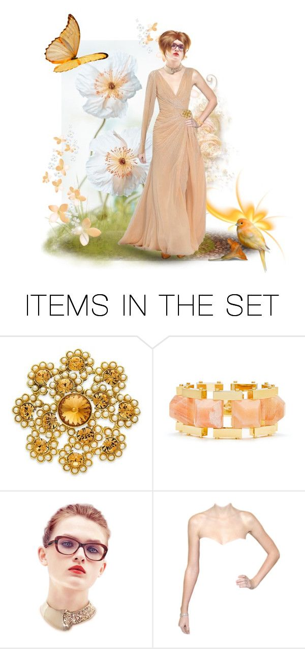 """""""Peachy Keen"""" by chileez ❤ liked on Polyvore featuring art"""
