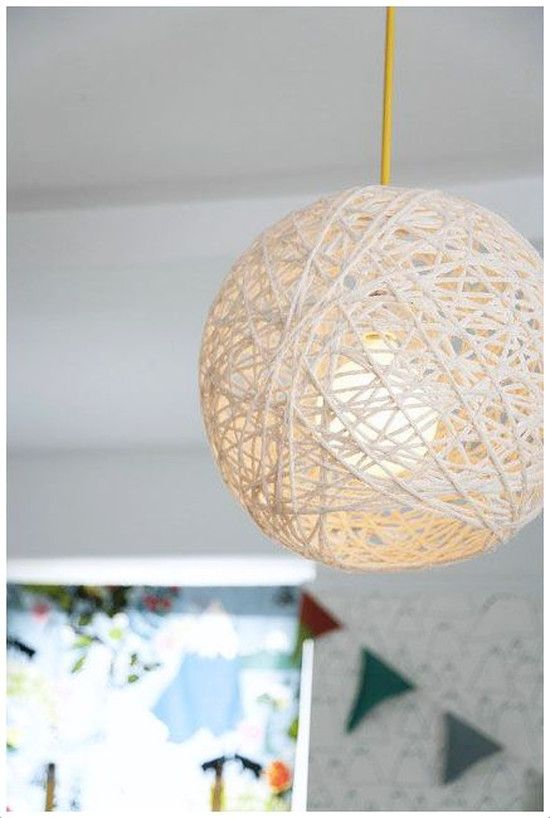 Yarn Pendant Lamp Amanda Kingloff In Pas June Make My Own And The Cord Kit From Land Of Nod