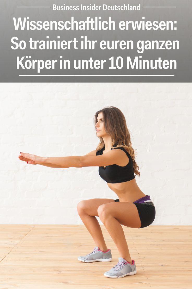 Wissenschaftlich erwiesen: So trainiert ihr euren ganzen Körper in unter 10 Minuten -  fitness train...