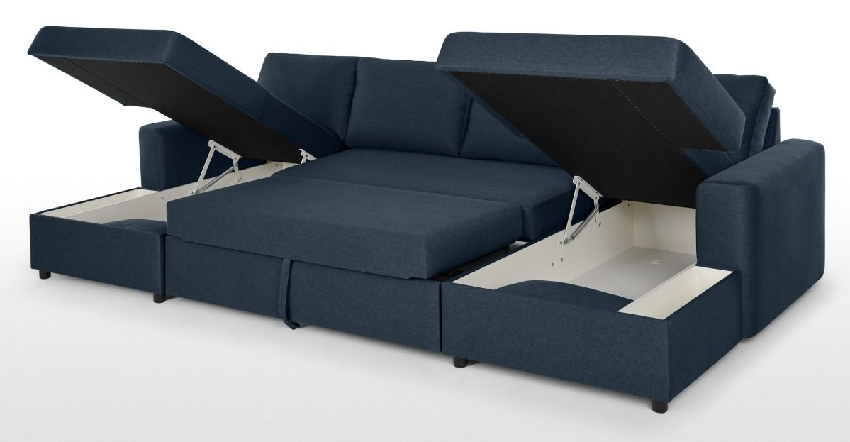 Made Regal Blue Corner Sofa Bed In 2020 Sofa Bed With Storage
