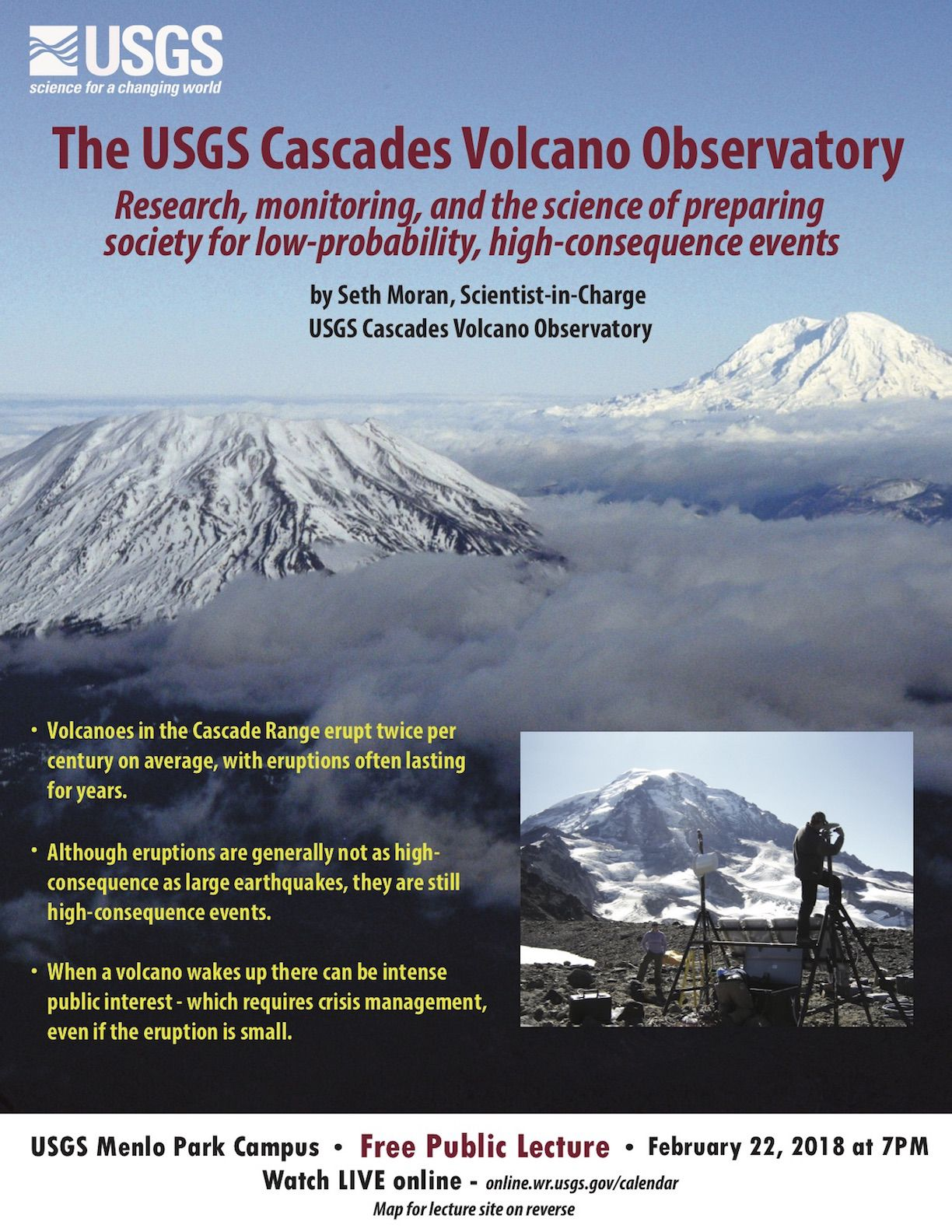 2222018 USGS Presents The USGS Cascades Volcano