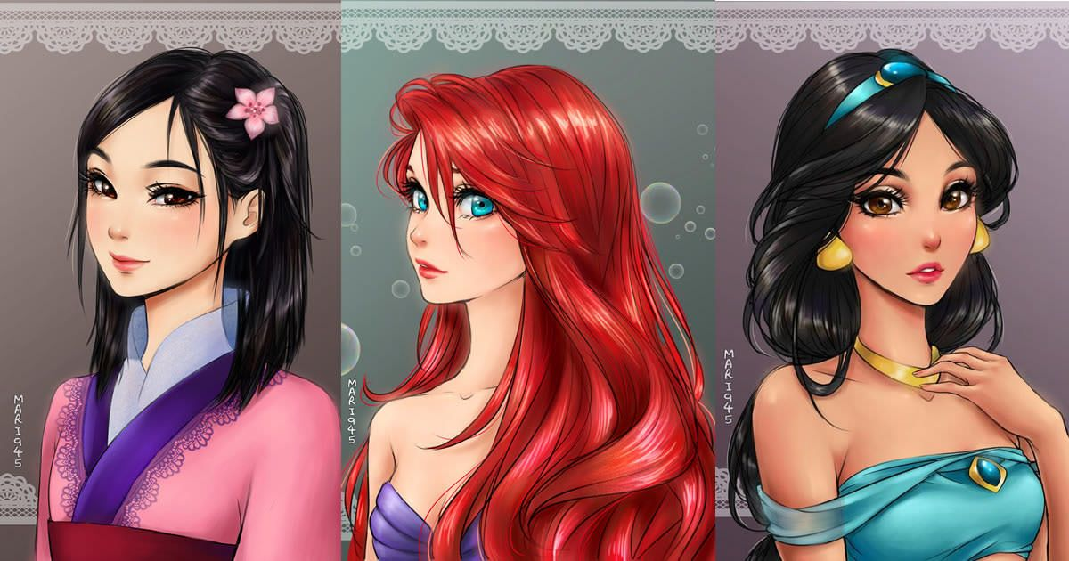 If Disney Princesses were Anime Characters. My fav are