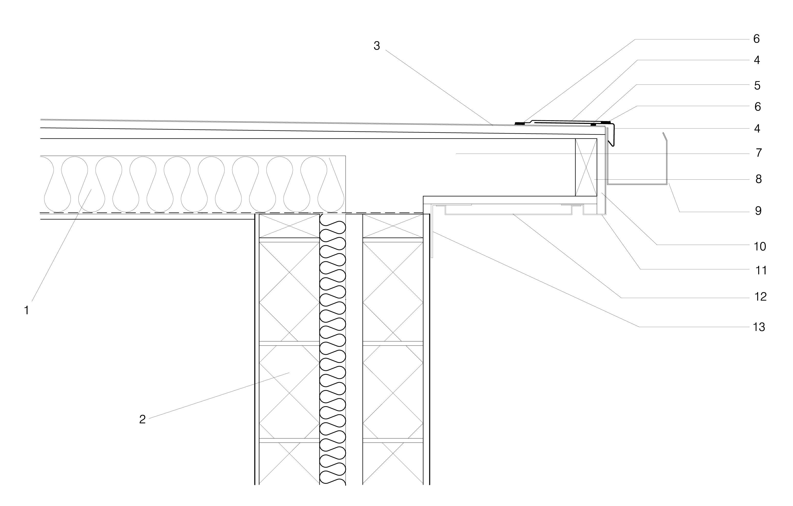 DWG - Files: Membrane Roofing - Eaves Detail - Technical Drawing - Detail Design Online