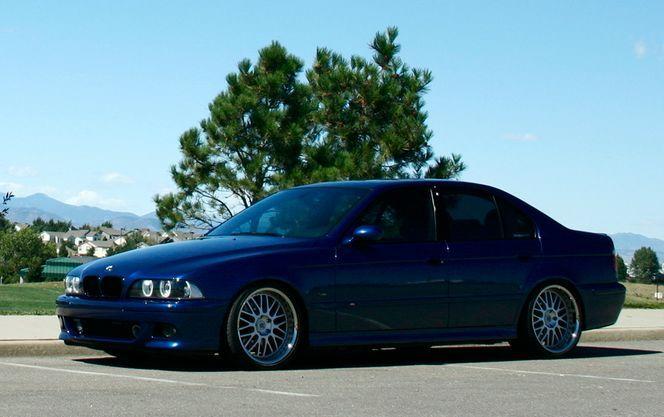 Bmw E39 540i Blue With Shadow Line Trim Black Grills Tinted Windows