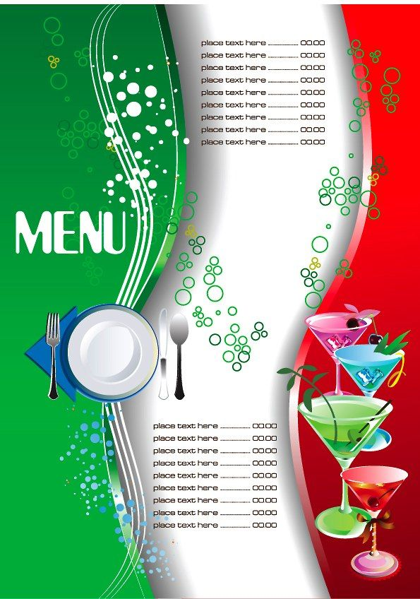 Restaurant Menu Template 3 PLANTILLAS Pinterest Restaurant - bar menu template