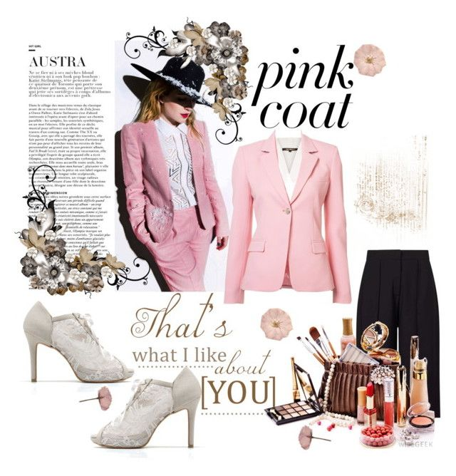 """""""Pink Coat"""" by miss-glass-rose ❤ liked on Polyvore featuring Kobi Halperin, Altuzarra and Miss Selfridge"""