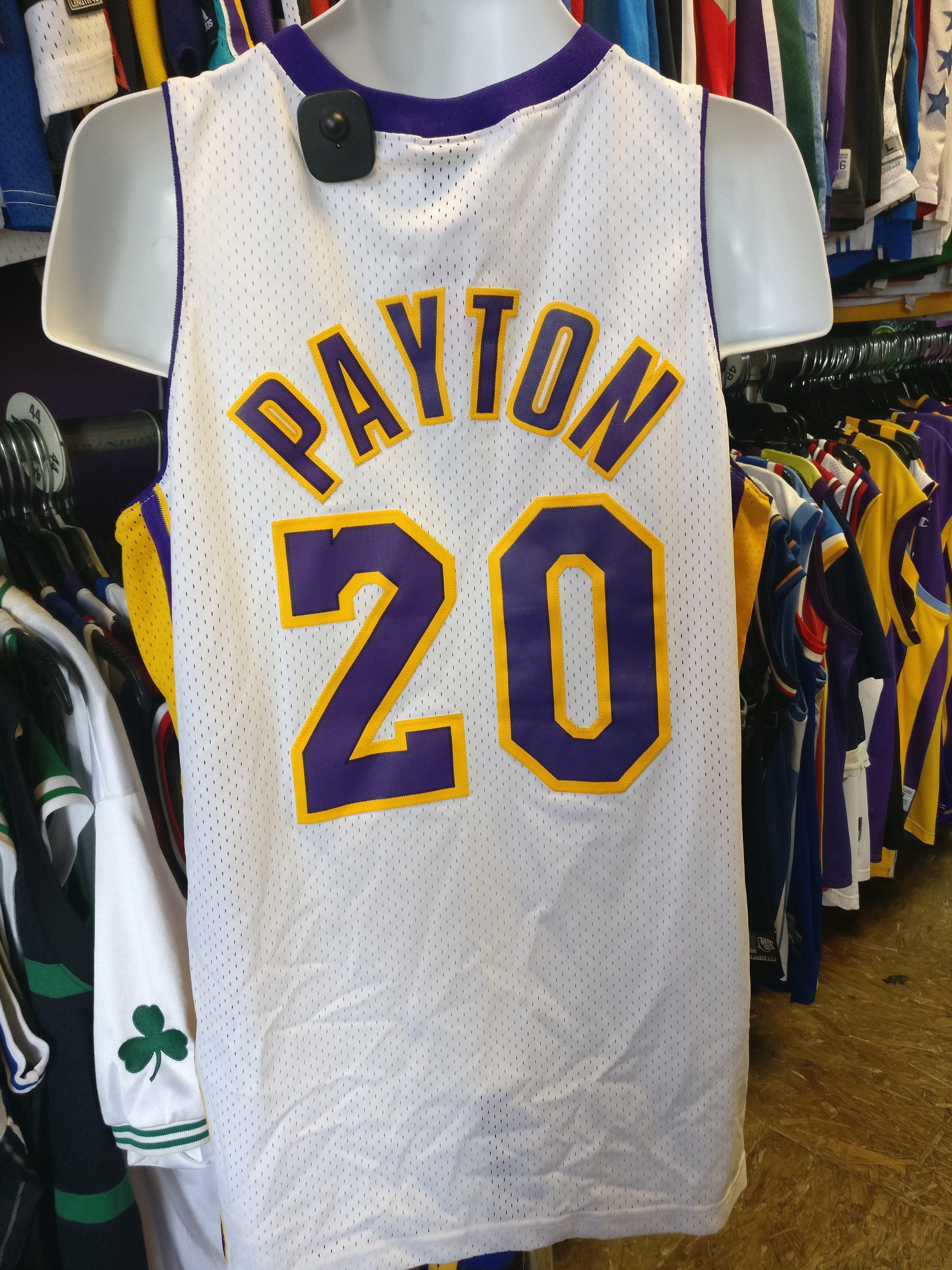 cd3359613c1 ... Vintage 20 GARY PAYTON Los Angeles Lakers NBA Nike Jersey M ...