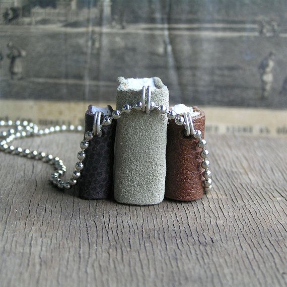 On Sale... Trio...  tiny leather  journals or  by JunqueTreasures, $29.95
