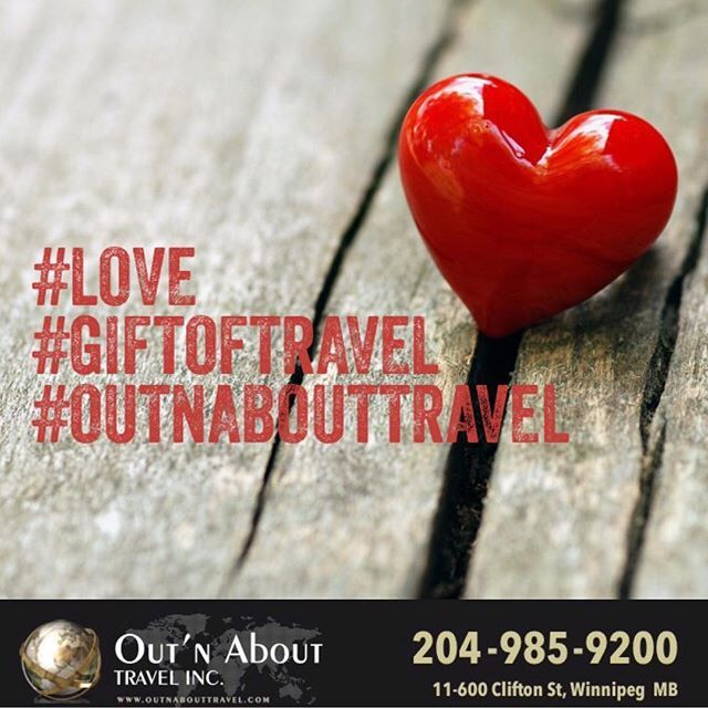 #loveisintheair Give your #love the #giftoftravel on this #valentines day. #travelinspirations #outnabouttravel