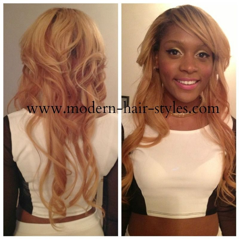 Style Cut and Color on a Partial Weave SewIn You can mimic this