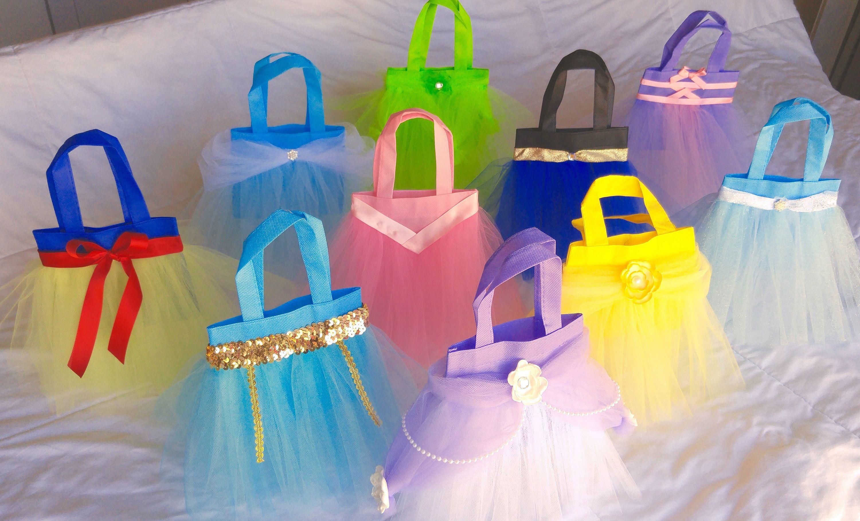 Princess Hand Bags Tutu Tote Party Favor Disney Birthday