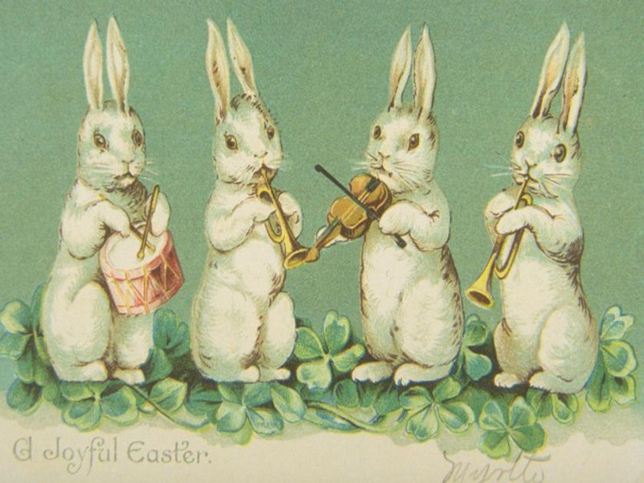Старинные пасхальные открытки с кроликами, картинки фразами про