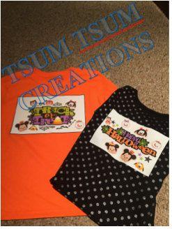 childrens halloween tsum tsum homemade shirt custom shirts - Homemade Halloween Shirts