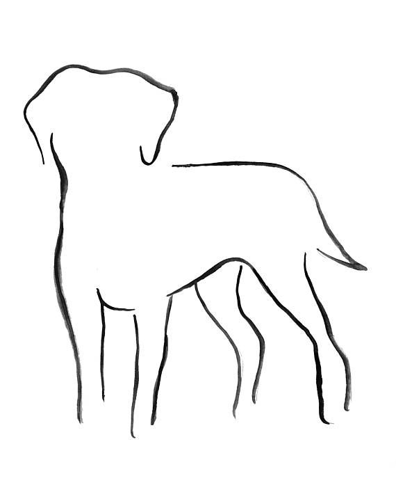 Labrador Art Labrador Drawing Labrador Picture Dog Print Dog