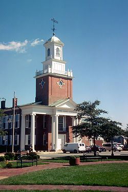 Visiting Georgetown, Delaware with Patricia.