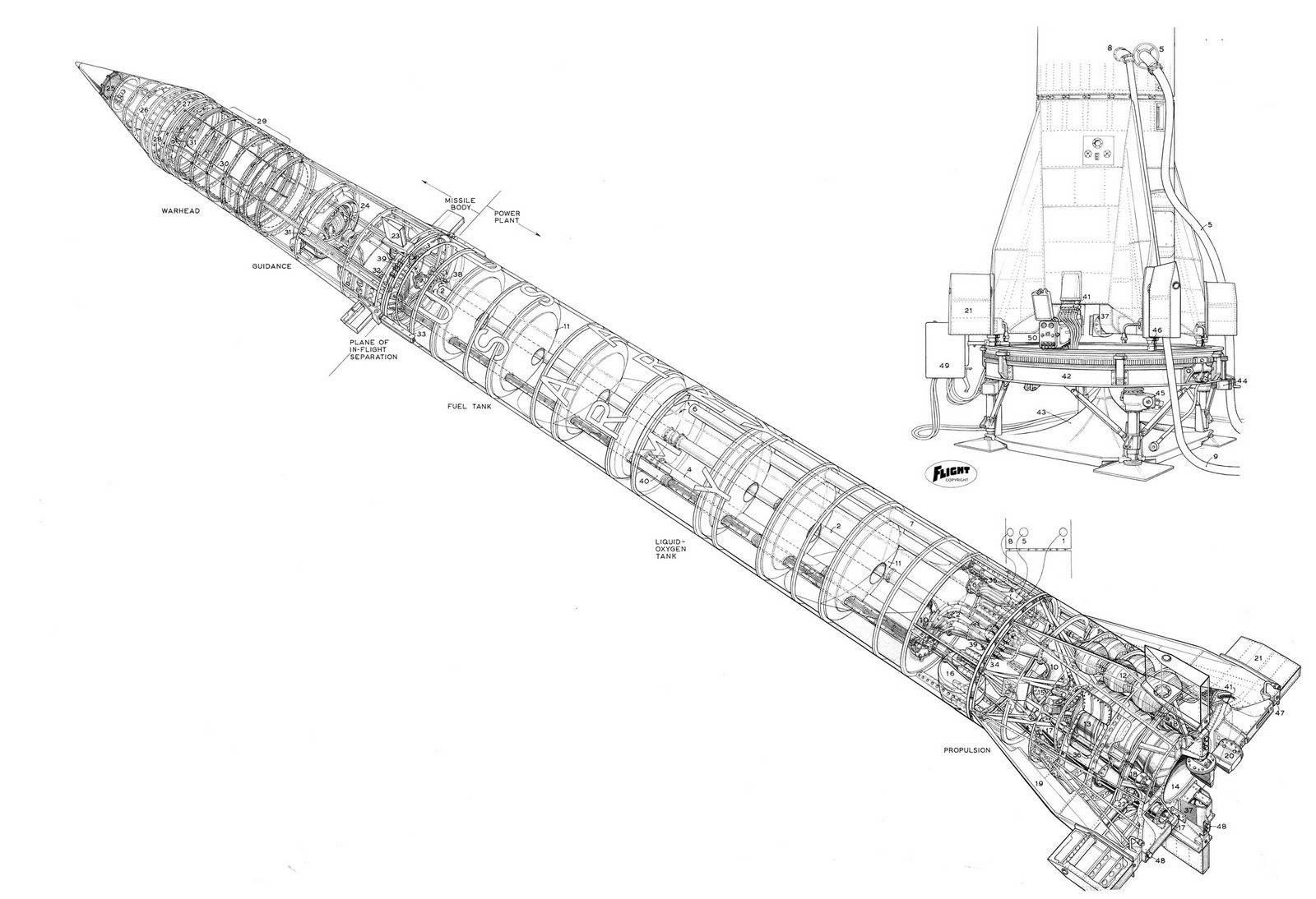 mercury spacecraft rockets diagrams