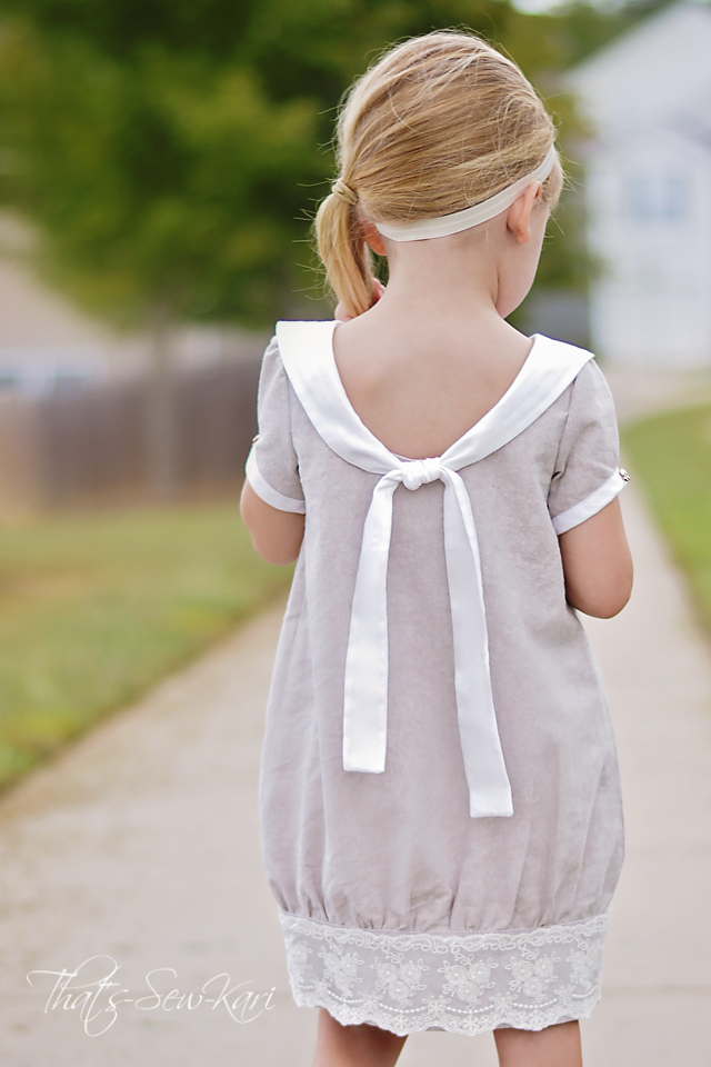 Sew girl dress simple white