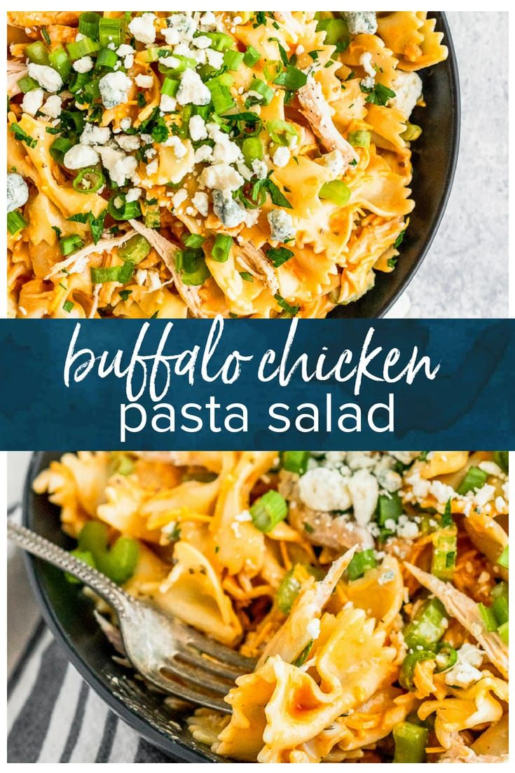 Buffalo Chicken Pasta Salad - Easy Pasta Salad Recipe