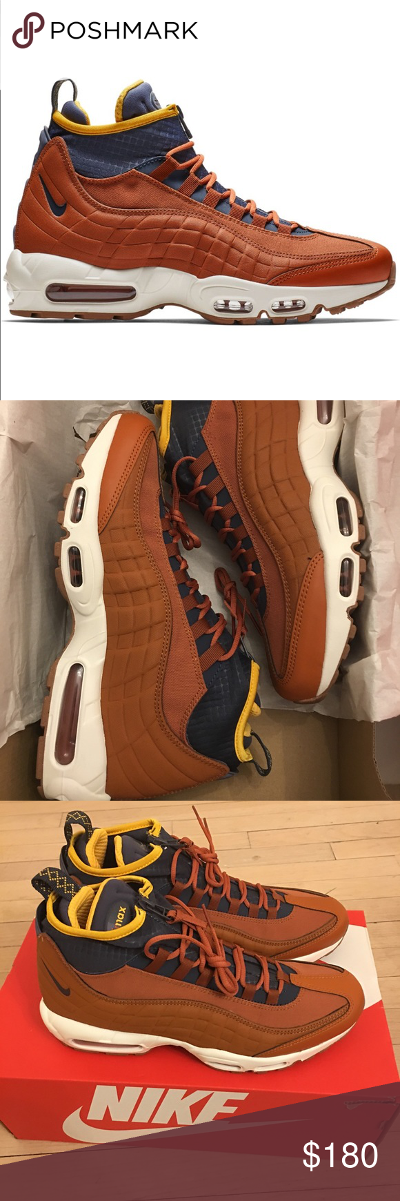 nike air max 95 sneakerboot dark russet