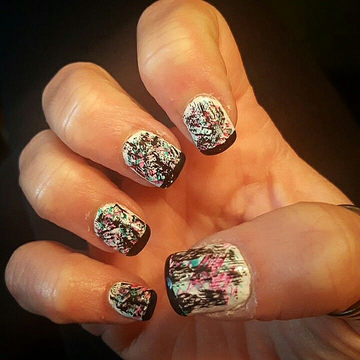Dry brush nail art 2016