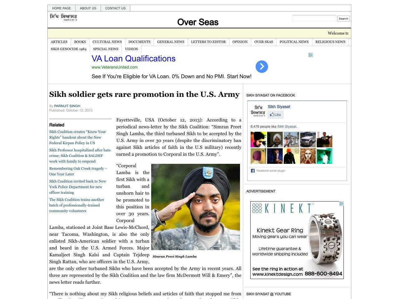 Sikh soldier gets rare promotion in the US Army