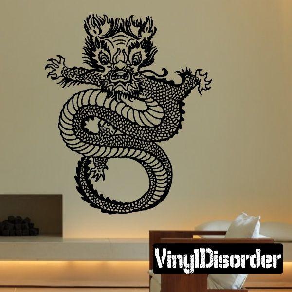 Dragon Wall Decal - Vinyl Decal - Car Decal - DC056