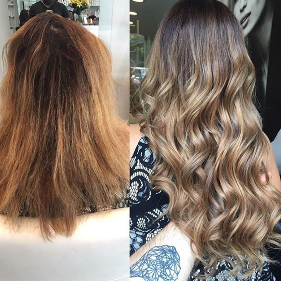 Gorgeous Hair Makeover And Color Transformation Using Glamseamless