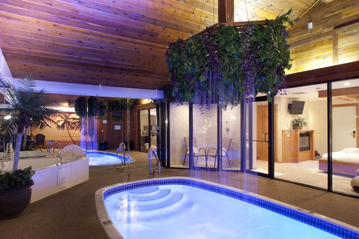 sybaris chalet swimming pool suite nick and i definitely need a weekend getaway here places