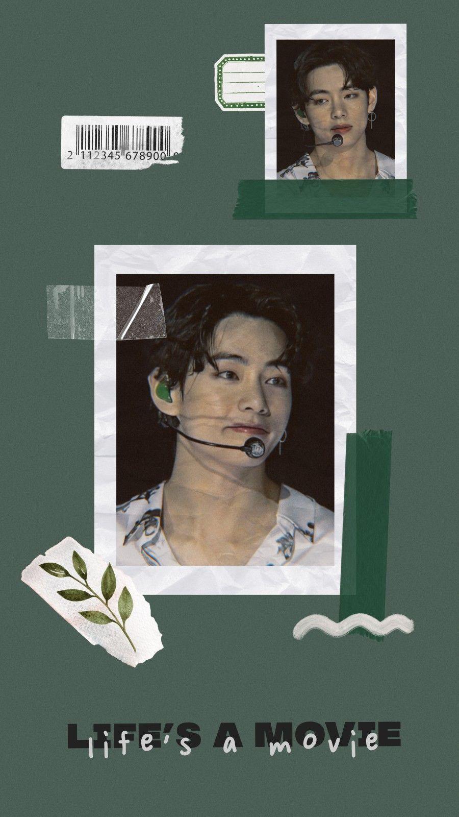 Taehyung Wallpaper Hijau Gambar Gambar Wajah