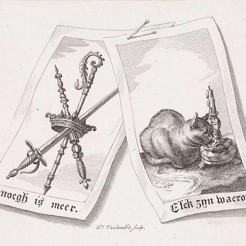 Twee emblemen, Daniël Veelwaard (I), 1776 - 1851 - Rijksmuseum