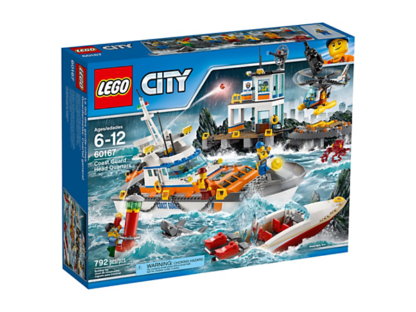 Coast Guard Head Quarters 60167 City Buy Online At The Official Lego Shop Ca Lego Coast Guard Lego City Coast Guard Ships