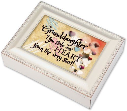 Granddaughter Jewelry Box Mesmerizing Cottage Garden Granddaughter Ivory Music Box  Jewelry Box Plays You