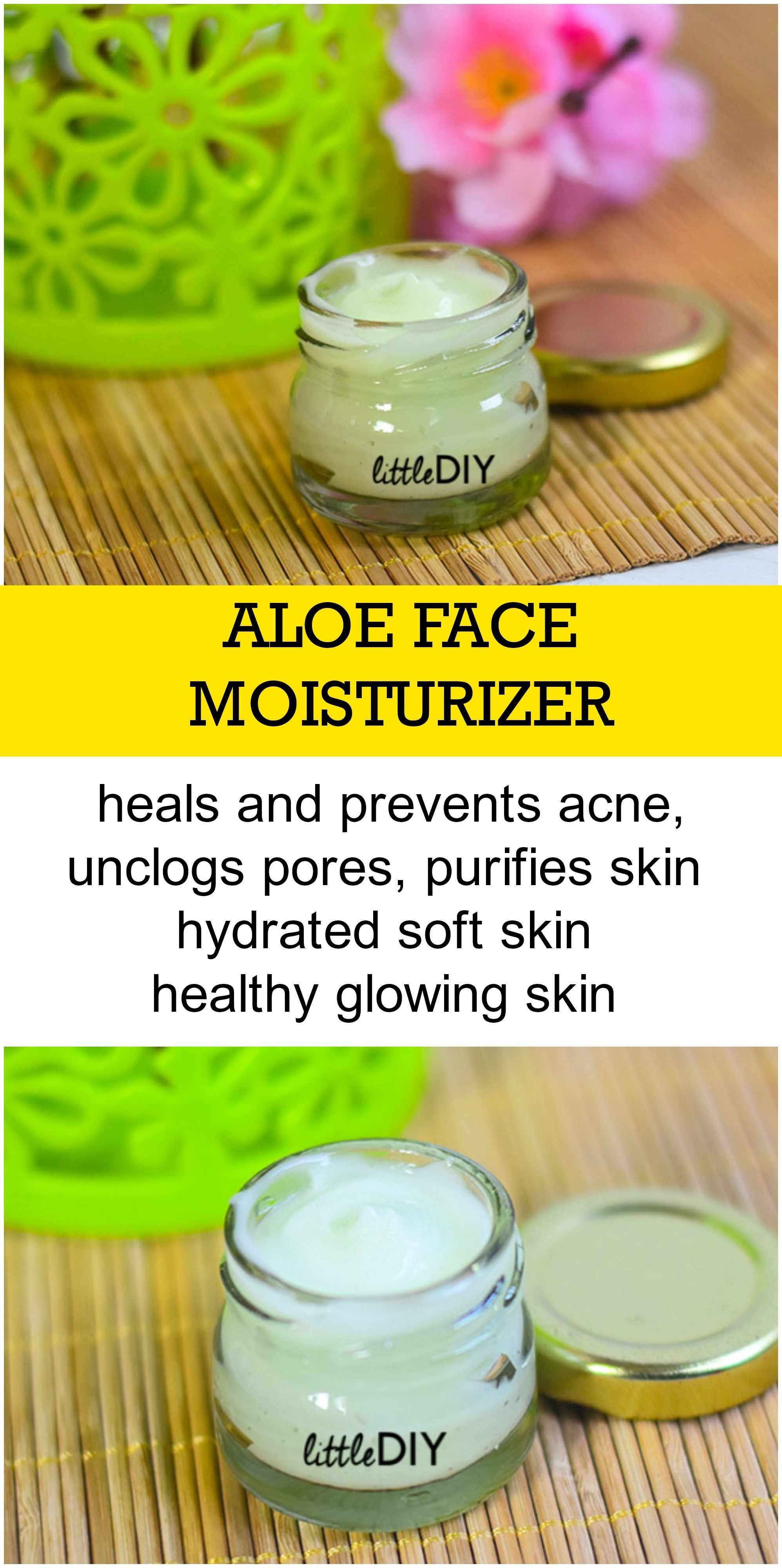 Diy Aloe Face Moisturizer Aloe On Face Homemade Skin Care Diy Moisturizer