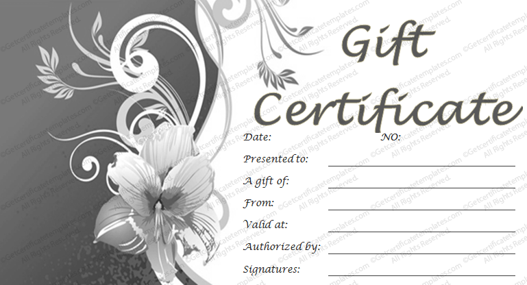 Certificate Format This Set Of Three Printable Gift Certificates