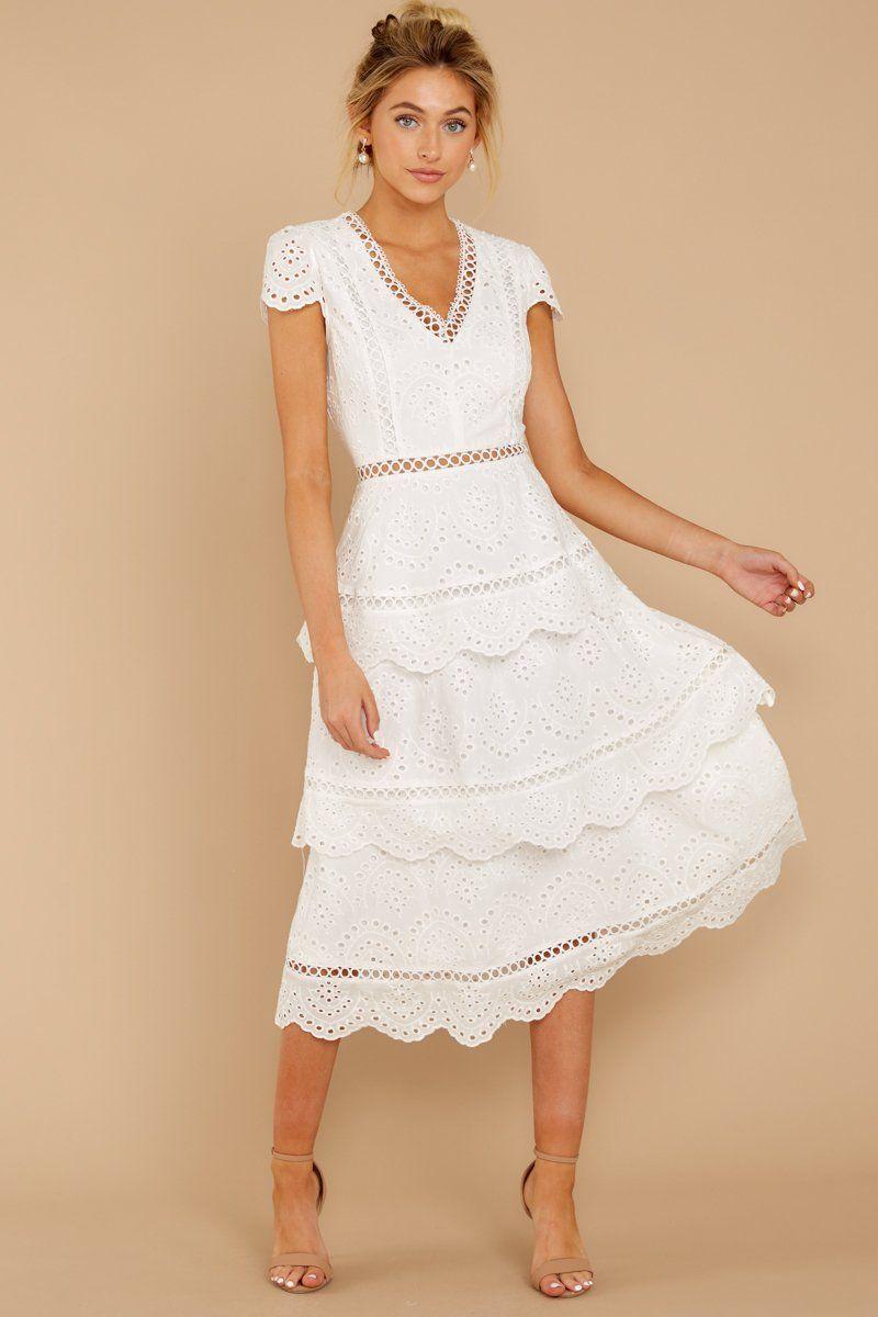 13+ White eyelet dress ideas