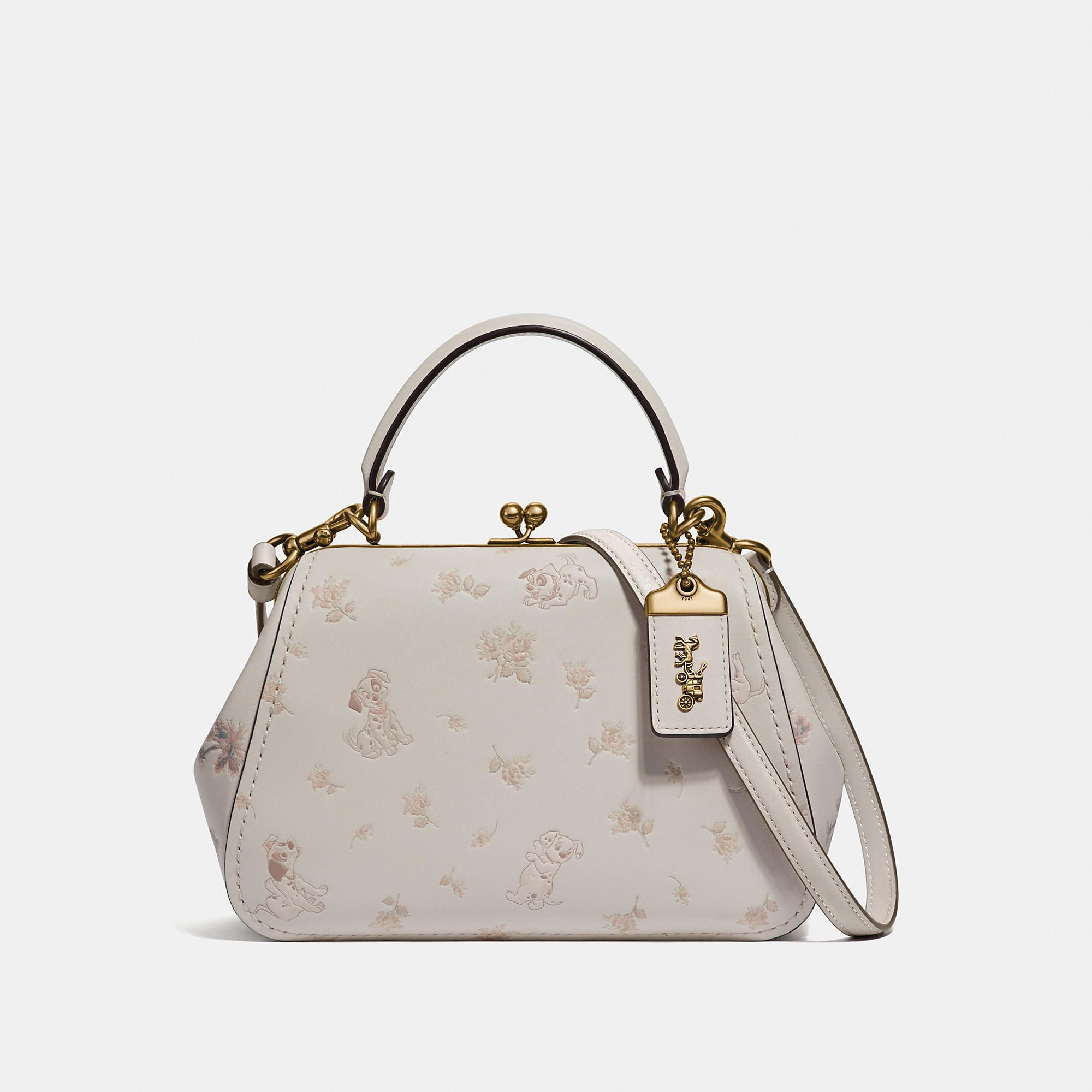 Disney X Coach Frame Bag 23 With Dalmatian Floral Print Products